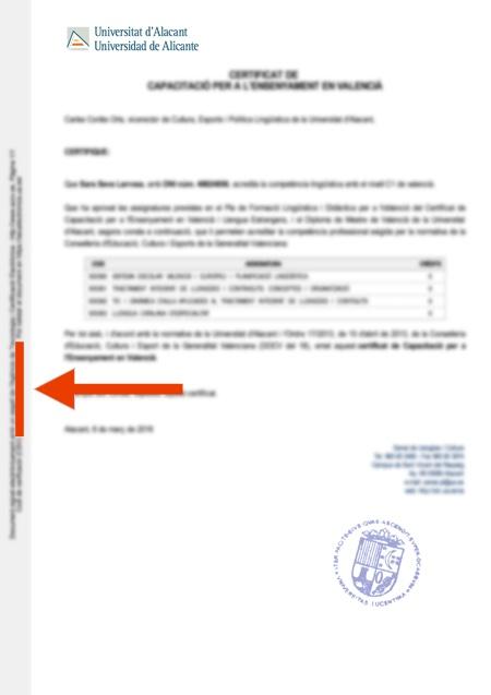 Validación de documentos